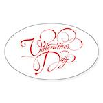 Valentines Day Sticker (Oval 10 pk)