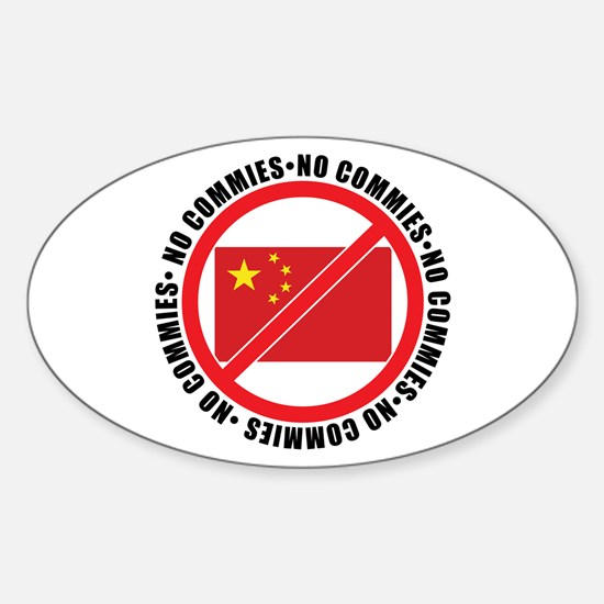 Cute Anti communist Sticker (Oval)