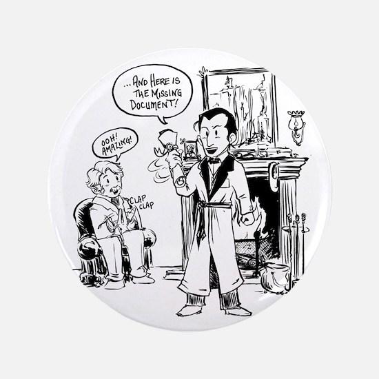 "Sherlock Holmes Cartoon 3.5"" Button"