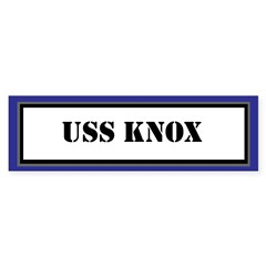 USS Knox Sticker (Bumper)