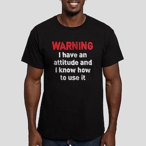 Attitude Warning Men's Fitted T-Shirt (dark)