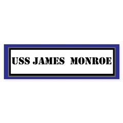 USS James Monore Sticker (Bumper)