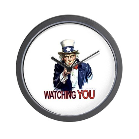 Uncle Sam Watching You Wall Clock