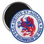 USS BROWNSON Magnet