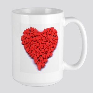 Pink Candy Heart Large Mug