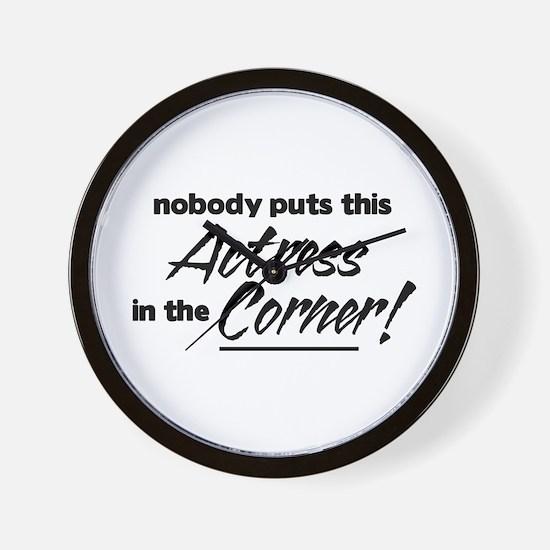 Actress Nobody Corner Wall Clock