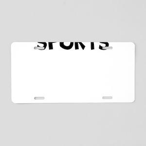 I Love Aeronautical Sports Aluminum License Plate