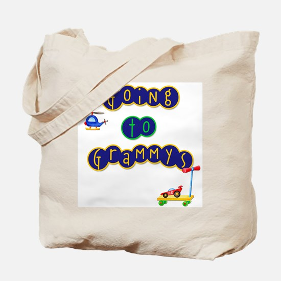 Boy Going to Grammy's Tote Bag