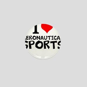 I Love Aeronautical Sports Mini Button