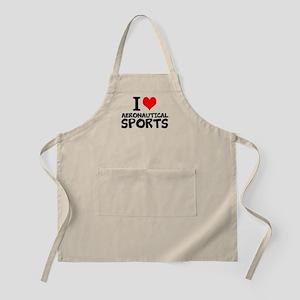I Love Aeronautical Sports Light Apron
