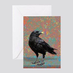 Black Crow Greeting Cards