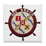 USS BRUSH Tile Coaster