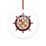 USS BRUSH Ornament (Round)