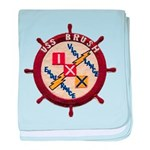 USS BRUSH baby blanket