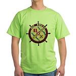 USS BRUSH Green T-Shirt