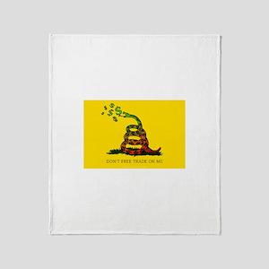 Gadsen Flag Throw Blanket