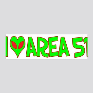 I Love-Alien Area 51 42x14 Wall Peel