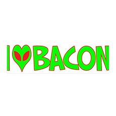 I Love-Alien Bacon 42x14 Wall Peel