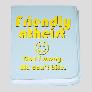 Friendly Atheist baby blanket