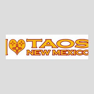 I Love Taos, NM 42x14 Wall Peel