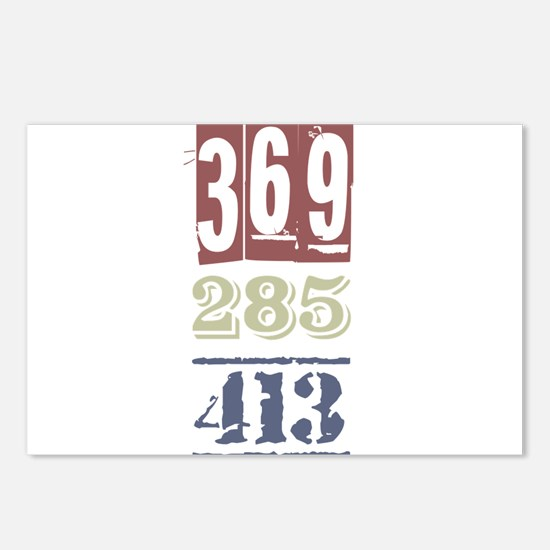 Numbers Postcards (Package of 8)
