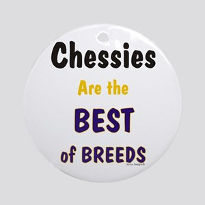 Chessies Best of Breeds Ornament (Round)