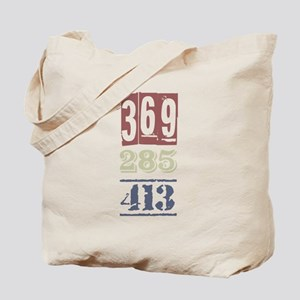 Numbers Tote Bag