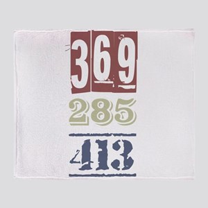 Numbers Throw Blanket