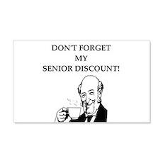 retiree senior citizen 22x14 Wall Peel