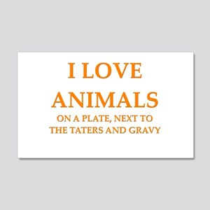 i love animals 22x14 Wall Peel