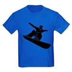 Go Snowboarding! Kids Dark T-Shirt