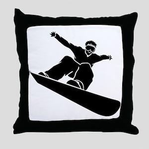 Go Snowboarding! Throw Pillow