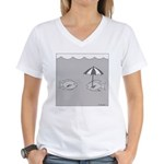 Looks Like It Might Rain (No Text) Women's V-Neck