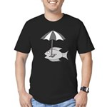 Umbrella Fish Men's Fitted T-Shirt (dark)