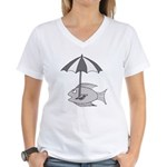 Umbrella Fish Women's V-Neck T-Shirt