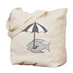 Umbrella Fish Tote Bag