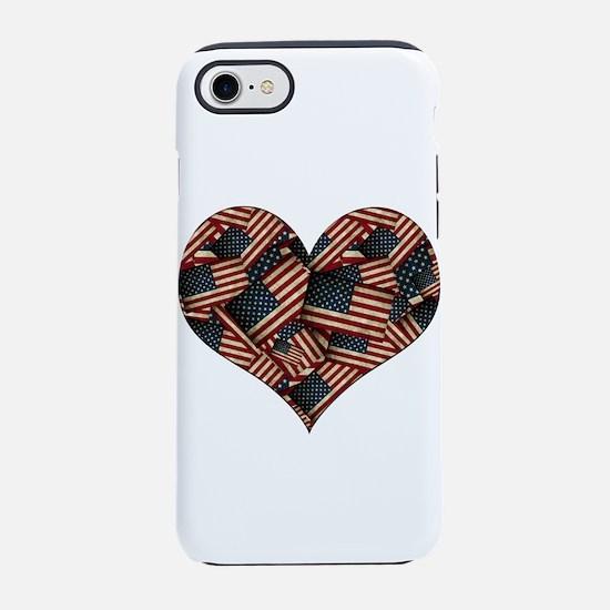 Patriotic Grunge-style America iPhone 7 Tough Case