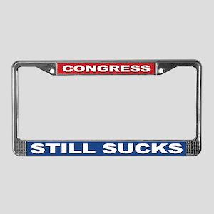 Congress Still Sucks License Plate Frame