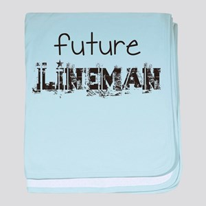 Future lineman baby blanket