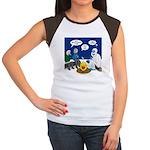 Yeti Winter Campout Junior's Cap Sleeve T-Shirt