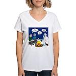 Yeti Winter Campout Women's V-Neck T-Shirt