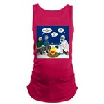 Yeti Winter Campout Maternity Tank Top