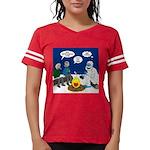 Yeti Winter Campout Womens Football Shirt