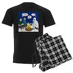 Yeti Winter Campout Men's Dark Pajamas