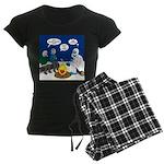 Yeti Winter Campout Women's Dark Pajamas