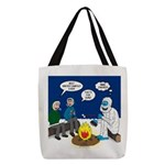 Yeti Winter Campout Polyester Tote Bag