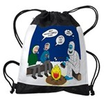 Yeti Winter Campout Drawstring Bag