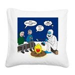 Yeti Winter Campout Square Canvas Pillow
