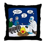 Yeti Winter Campout Throw Pillow