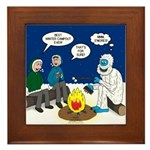 Yeti Winter Campout Framed Tile